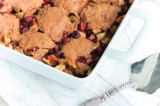 healthy living polenta cobbler fruit dessert