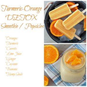 Turmeric-Orange Detox Smoothie (or Popsicle) Recipe