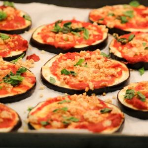 15 Minute Almost Cheeseless Eggplant Pizza Recipe