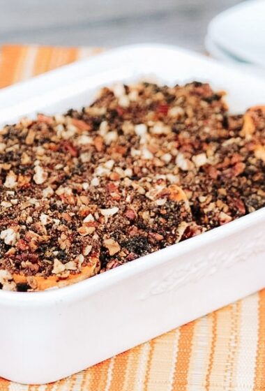 Apple and Sweet Potato Casserole Recipe with Pecan Crumble