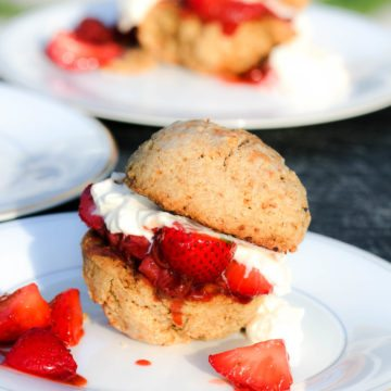 Clean Remake of Bon Appetit's Best Strawberry Shortcake Dessert