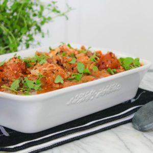 Oven Baked Chicken Recipe with San Marzano Tomatoes