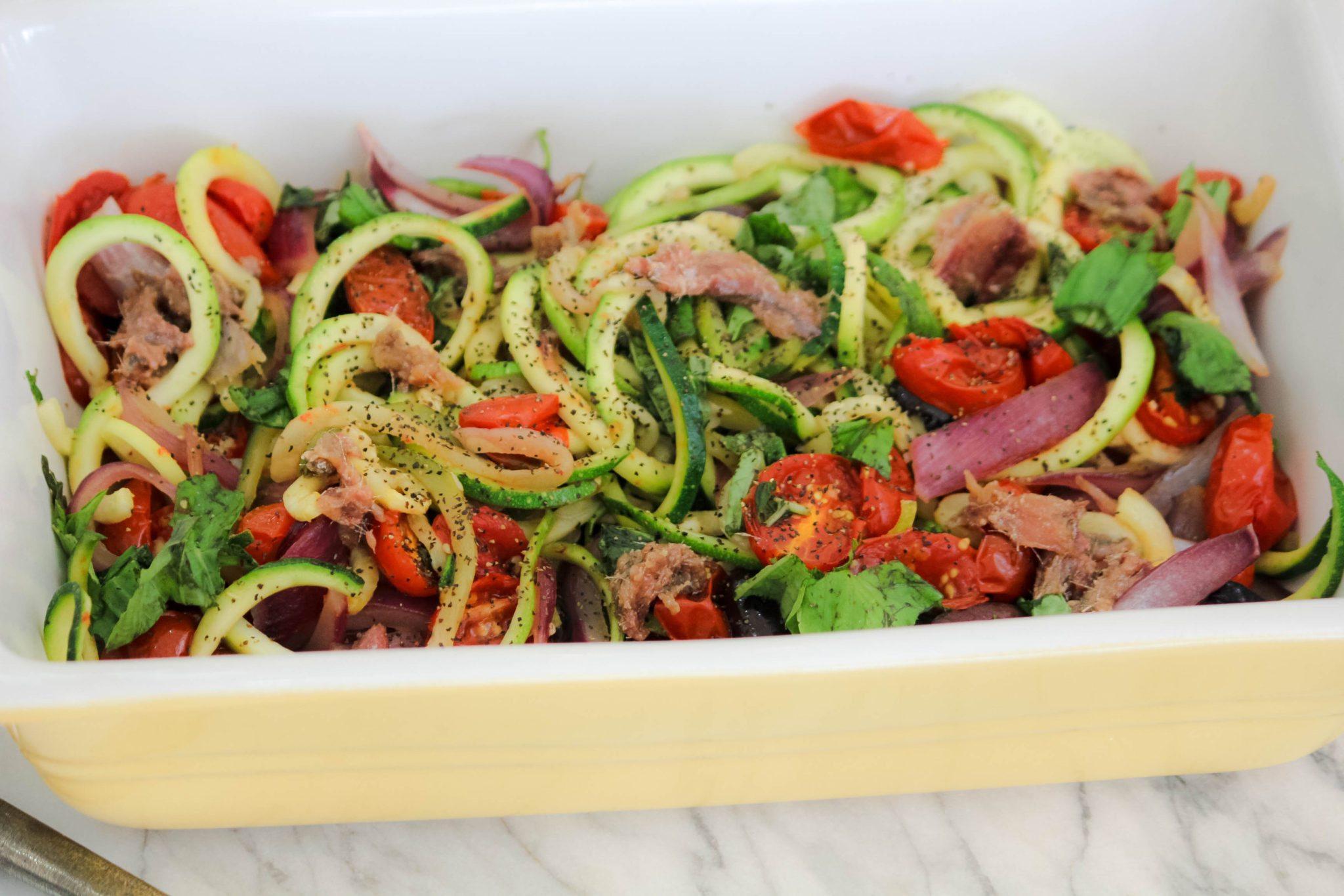 clean cuisine zucchini pasta recipe