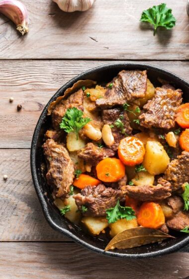 One Dish Dinner: Moroccan Lamb Stew with White Beans