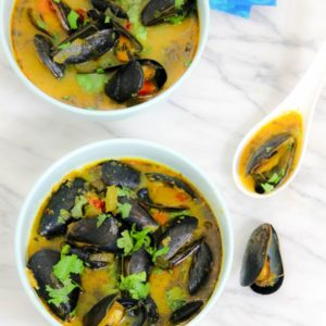 Thai Recipe for Mussels with Red Curry