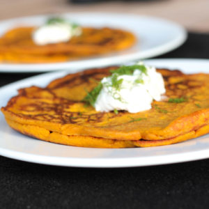 Savory Carrot and Brown Rice Dinner Pancakes