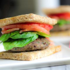 Umami-Rich Turkey and Mushroom Burger