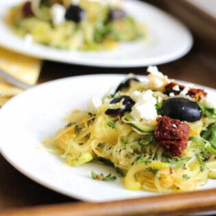 Zucchini and Spaghetti Squash Pasta