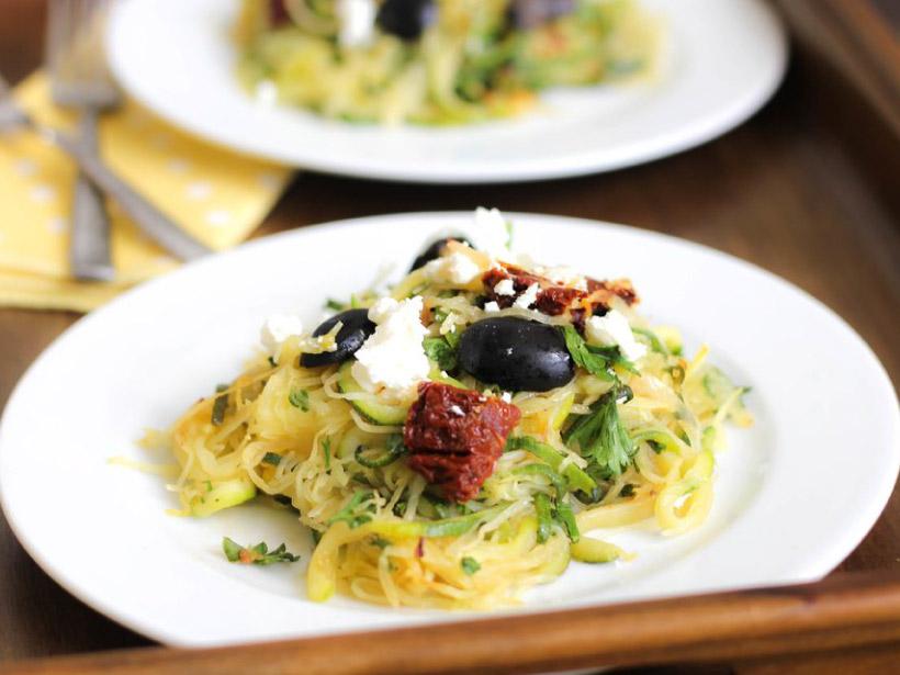 Spaghetti and Zucchini Squash Pasta