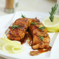salmon with teriyaki sauce