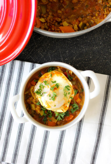 Lentil Stew with LOTS of Vegetables (+ Maybe an Egg on Top Too?)