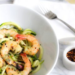 Recipe for 20 Minute Shrimp Scampi with Zucchini Noodles