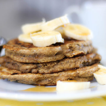 Wheat Free Fluffy Banana Pancake Recipe