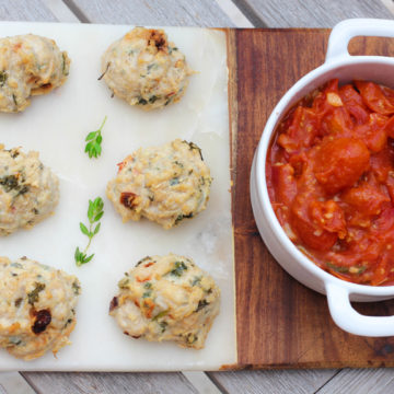 Baked Turkey Meatballs (with Tabbouleh!)