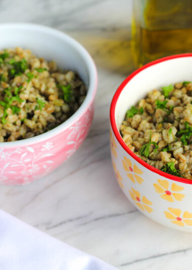 how to make farro salad