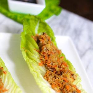 Asian Style Shitake Mushroom Lettuce Wraps