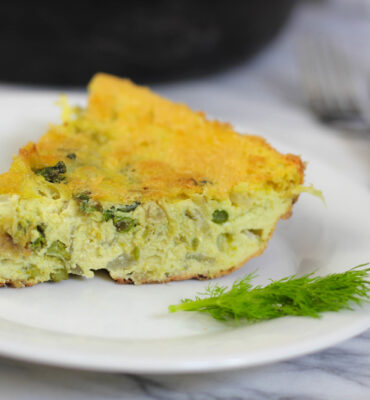 Spring Frittata Recipe with Asparagus, Leeks & Dill