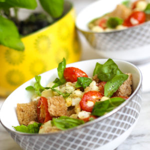 Summer Panzanella Salad with Corn and Tomatoes