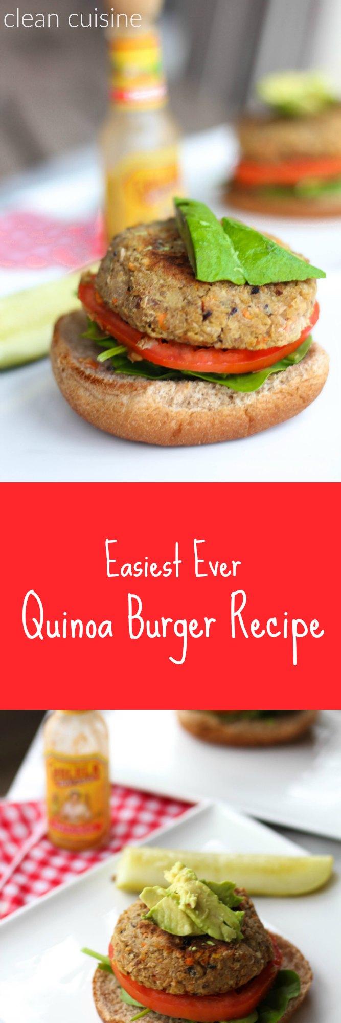 Easy Quinoa Burger Recipe