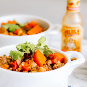 Blue-Zone Friendly Tempeh Chili (with or without Meat)