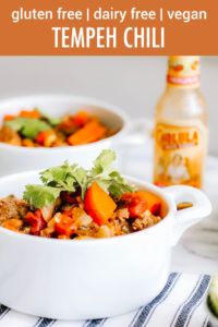 Tempeh Chili Pinterest Pin