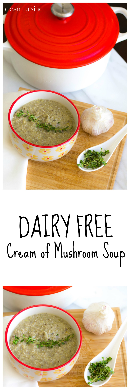 Dairy Free Cream of Mushroom Soup