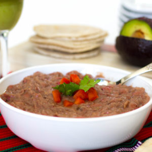 Clean Recipe for SUPER EASY Refried Pinto Beans