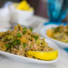 Chickpea Pasta Recipe = Easy Dinner from Pantry Staples
