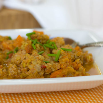 Slow Cooker West African Red Lentil Stew with Turkey
