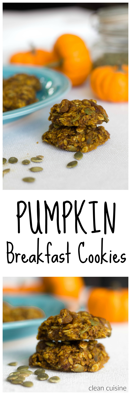 Breakfast Pumpkin Cookies