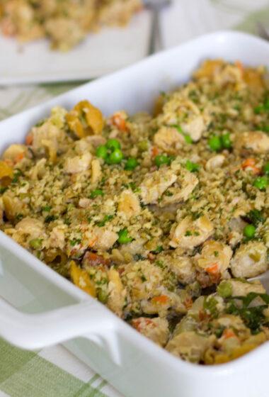 A Clean Salmon Noodle Casserole Recipe (Dairy Free/ Gluten Free)
