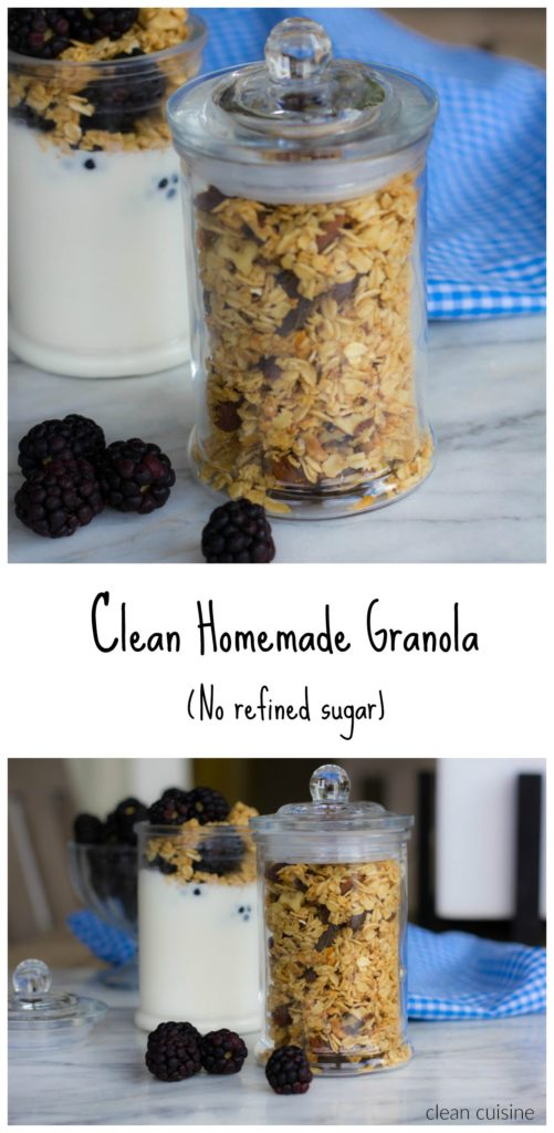 Simple Granola Recipe with no refined sugar