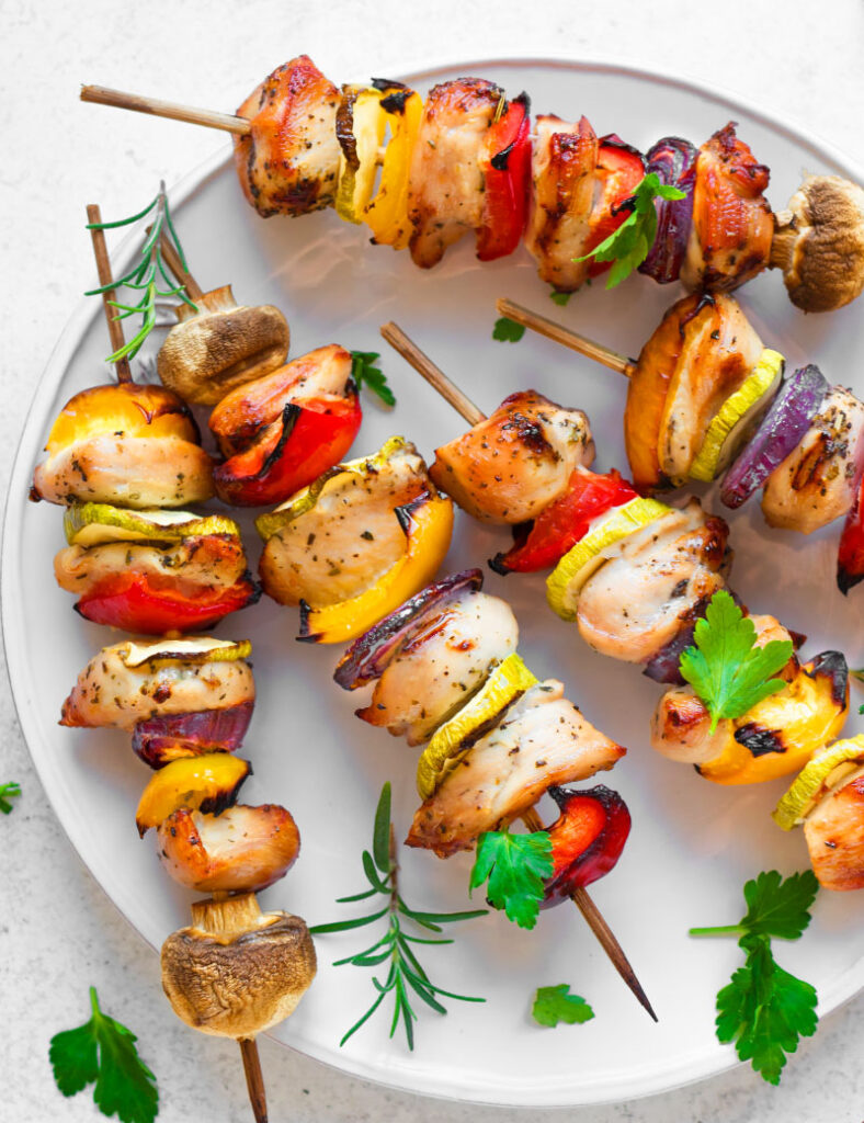 Chicken Teriyaki Kabobs Baked Or Grilled Clean Cuisine