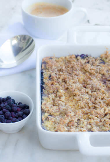 Baked Oatmeal with Wild Blueberries