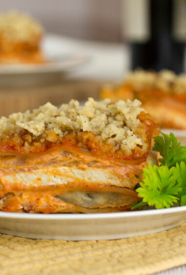 CLEAN Gluten Free/ Dairy Free Vegetable Lasagna Recipe