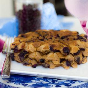 The Best Gluten Free Blueberry Waffle Recipe (No Dairy/ No Refined Sugar)
