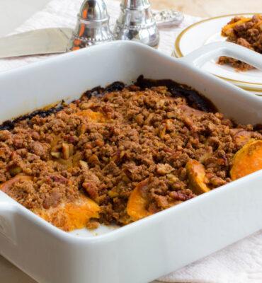 gluten free hasselback sweet potato casserole