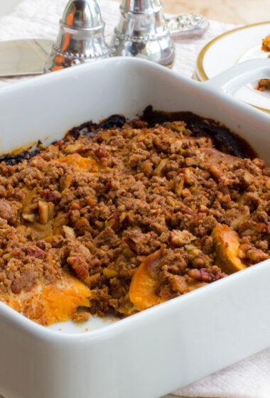 Dairy Free / Gluten Free Hasselback Sweet Potato Casserole Recipe