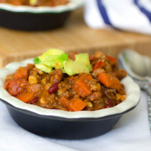 A Cleaner Instant Pot Beef Chili Recipe (with Less Meat & More Plant Protein!)