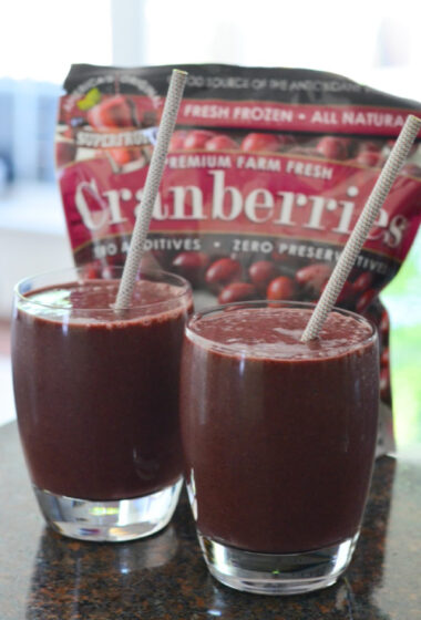 Cranberry Blueberry Smoothie