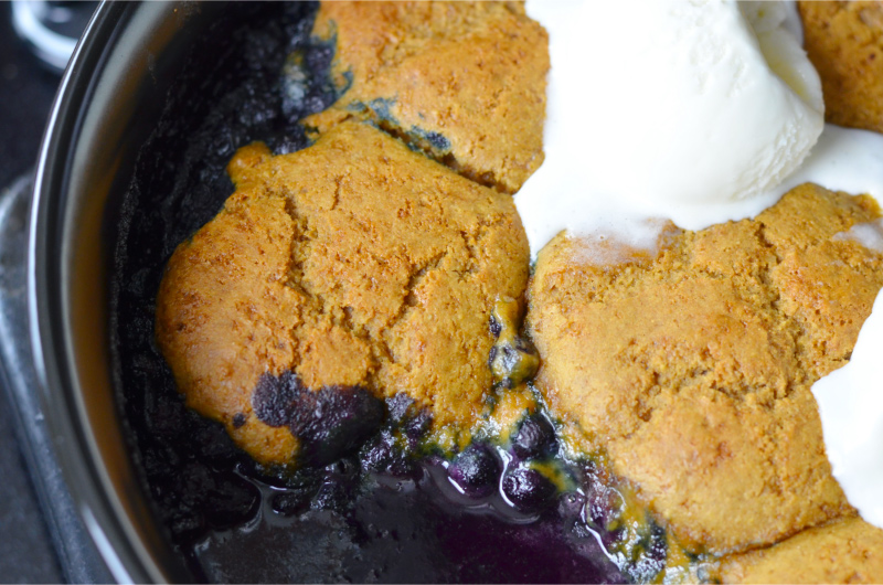wild blueberry cobbler