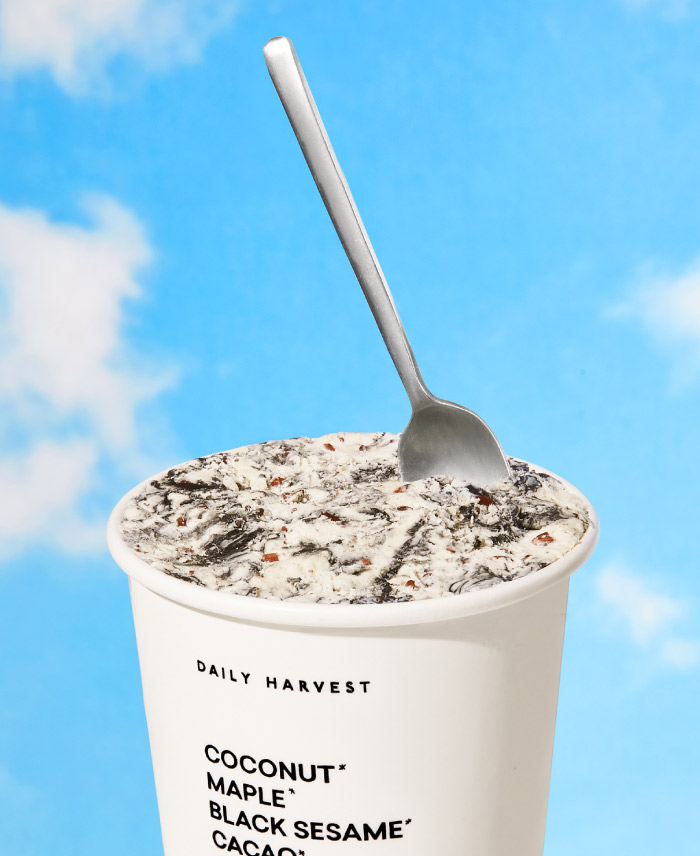 DAILY HARVEST SCOOPS VANILLA + SALTED SWIRLED BLACK SESAME
