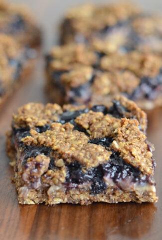 wild blueberry oat bars