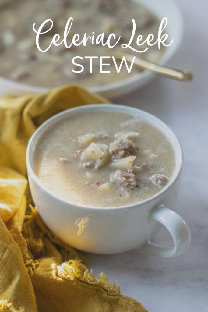 Celeriac Leek Stew Pinterest Pin