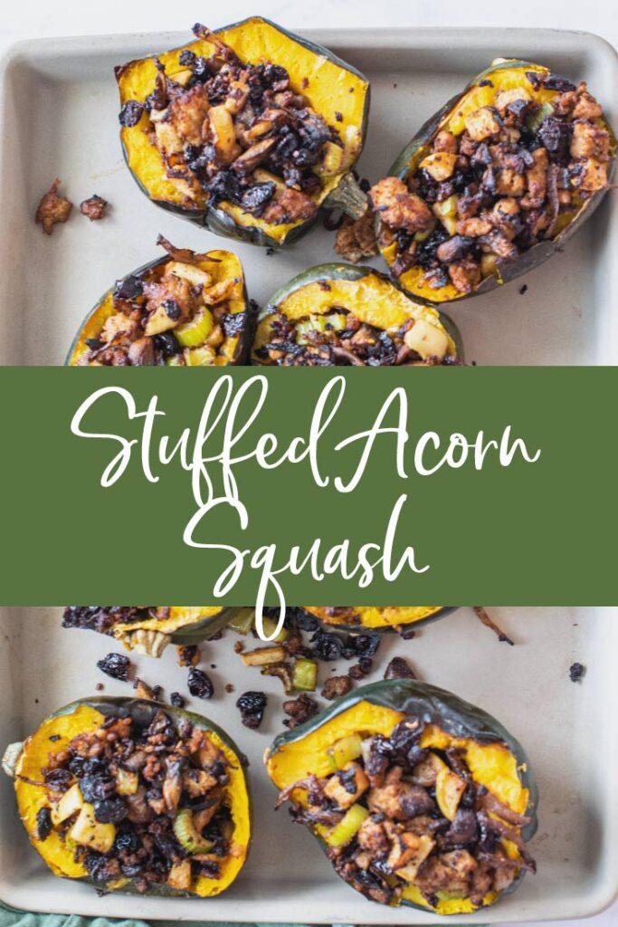 Stuffed Acorn Squash Pinterest Pin