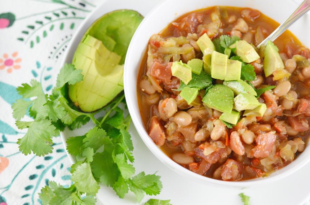 Vegetable Chili Recipe With Cilantro And Avocado Clean Cuisine